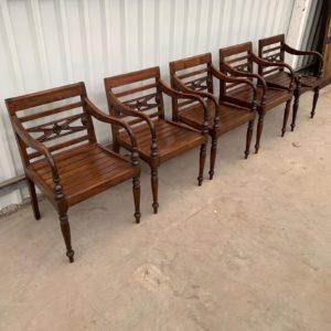 kringloop stoelen teakhout